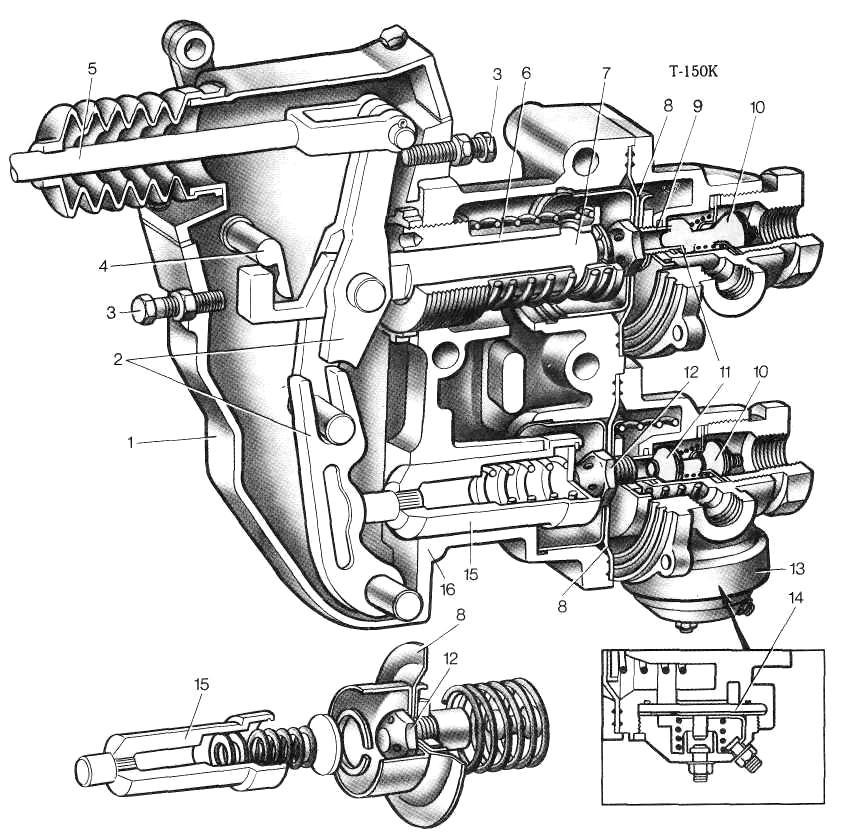 Тормозной кран ГАЗ-3309