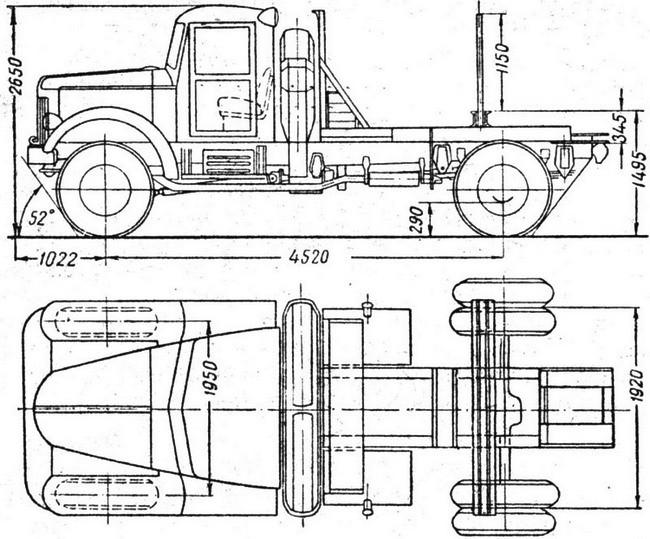 Схема авто МАЗ-501