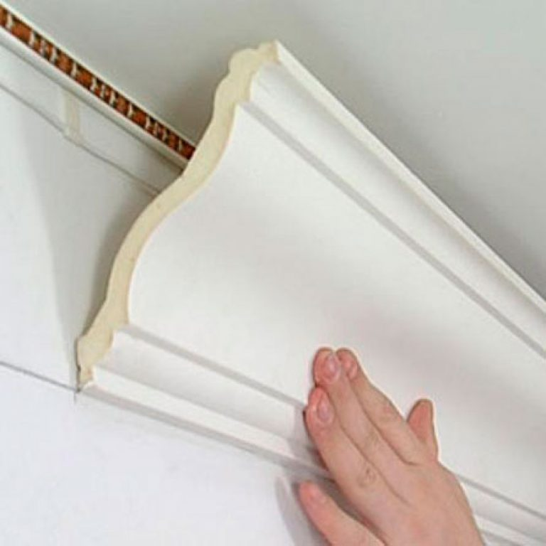 Skirting board for adhesive ceilings