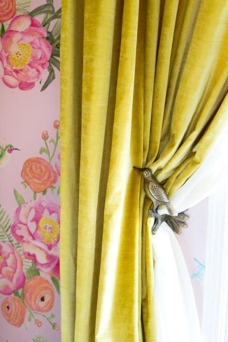 бархатные шторы фото