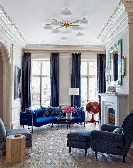 бархатные шторы в гостиную