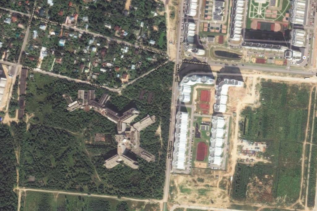 Abandoned hospital of the KGB of the USSR in Zheleznodorozhny