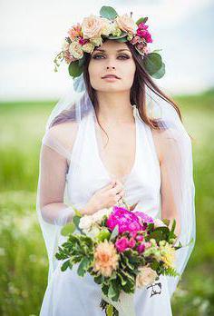 Свадебный венок на голову (фото)