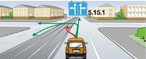 Движение автомобиля по трамвайным путям попутного направления