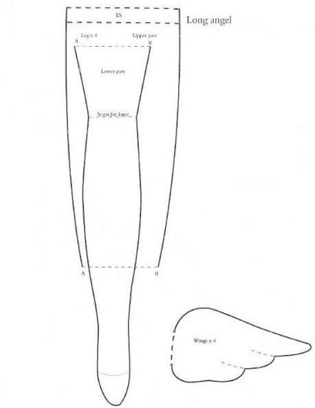 Выкройки для тильды в натуральную величину