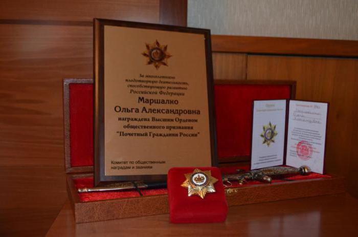 почетный гражданин россии список