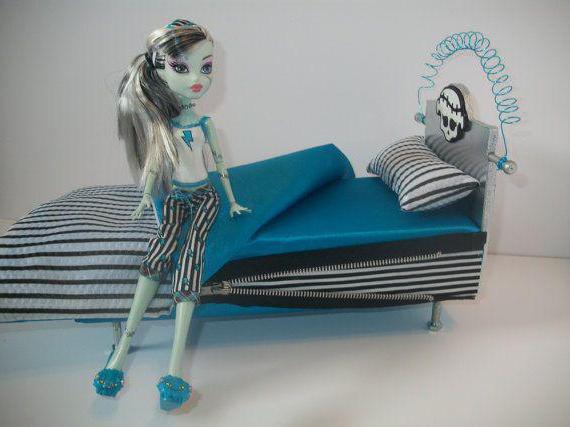 Как для куклы сделать кровать 531