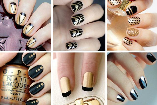 золотой цвет с каким цветом сочетается ногти