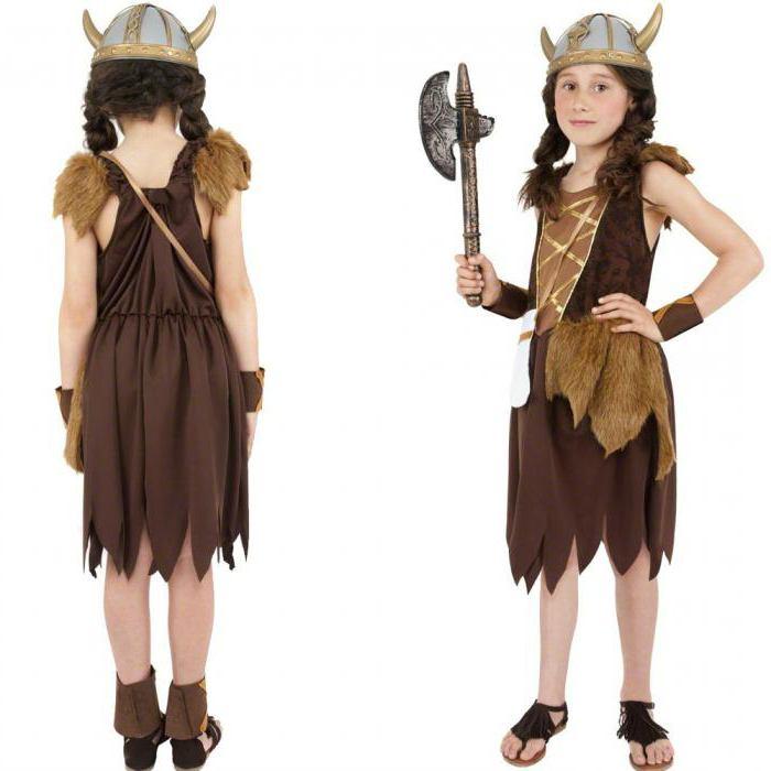 Костюм викинга для девочки