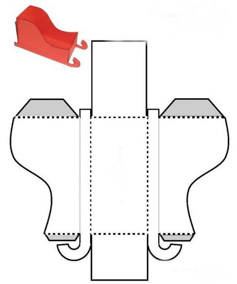 Санки из картона своими руками шаблон