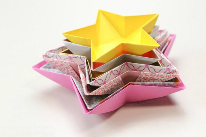 Объемная звезда из бумаги своими руками