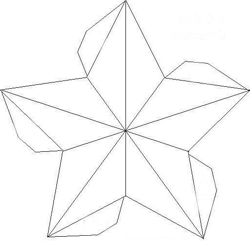 Шаблон объемной звезды из бумаги