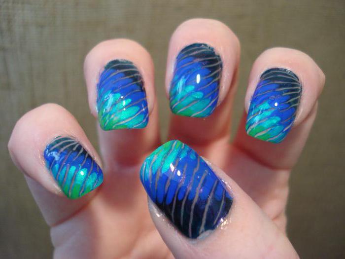 узоры на ногтях с помощью иголки