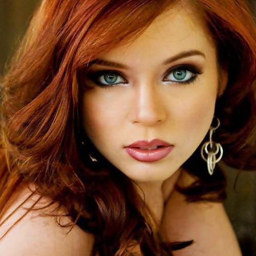 рыжие волосы макияж