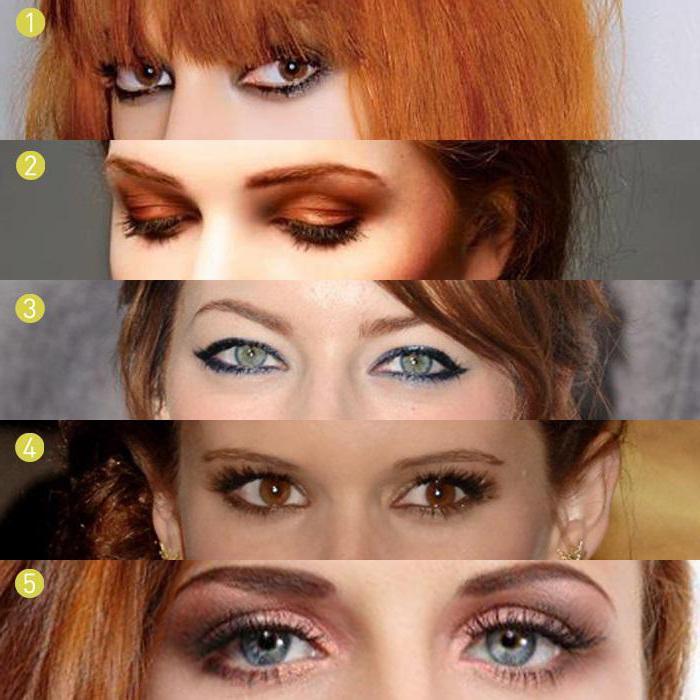 макияж для зеленых глаз и рыжих волос