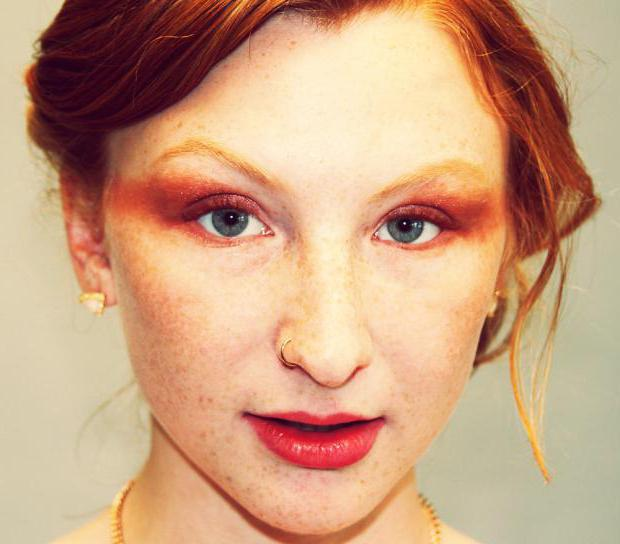 макияж для голубых глаз и рыжих волос