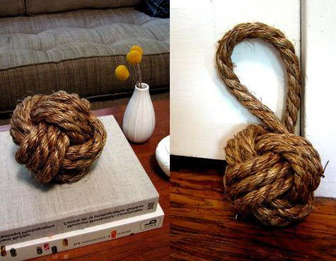 Декоративный узел обезьяний кулак