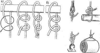 Узел штык схема вязания