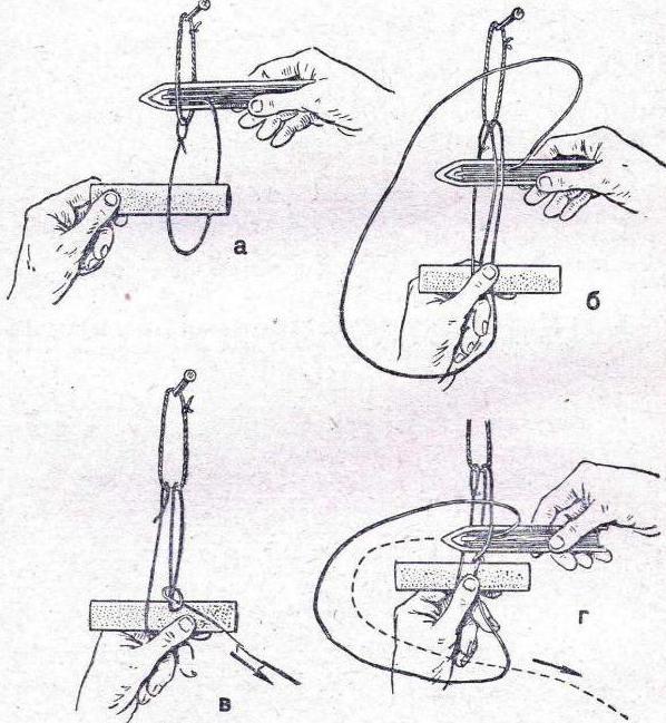 как вязать шкотовым узлом сеть