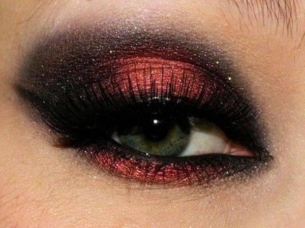 как накрасить глаза тенями пошаговая