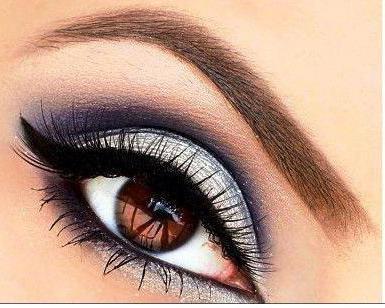 накрашенные глаза