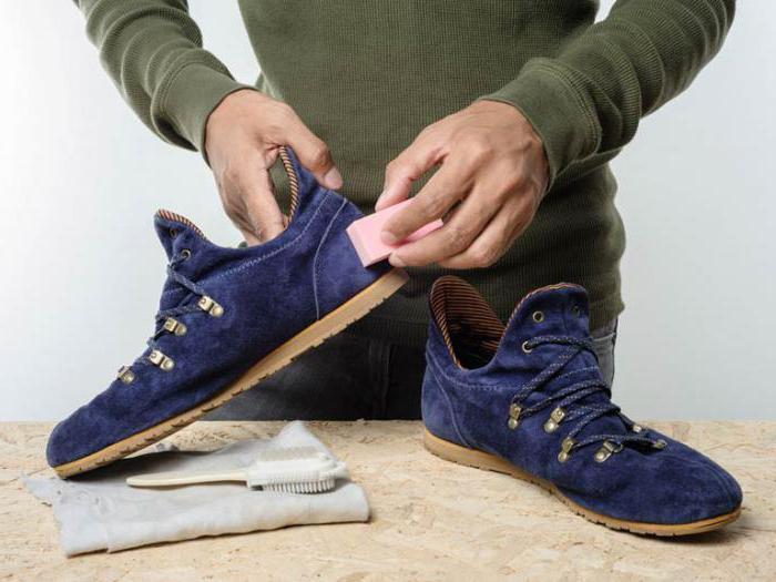 как чистить замшевые кроссовки в домашних условиях