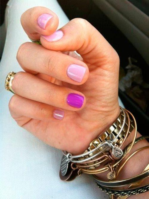 маникюр на очень короткие ногти гель лак