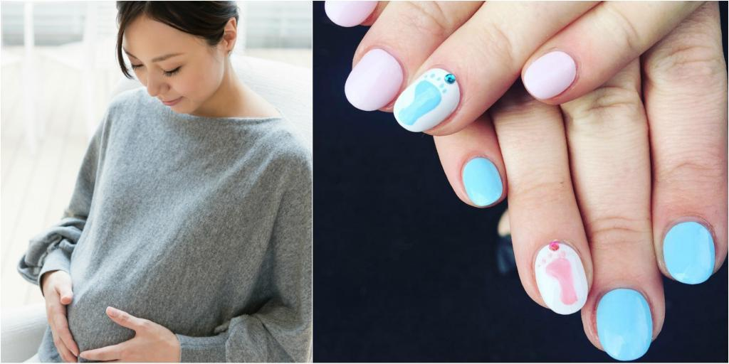 Рисунки на ногтях для беременных фото 49