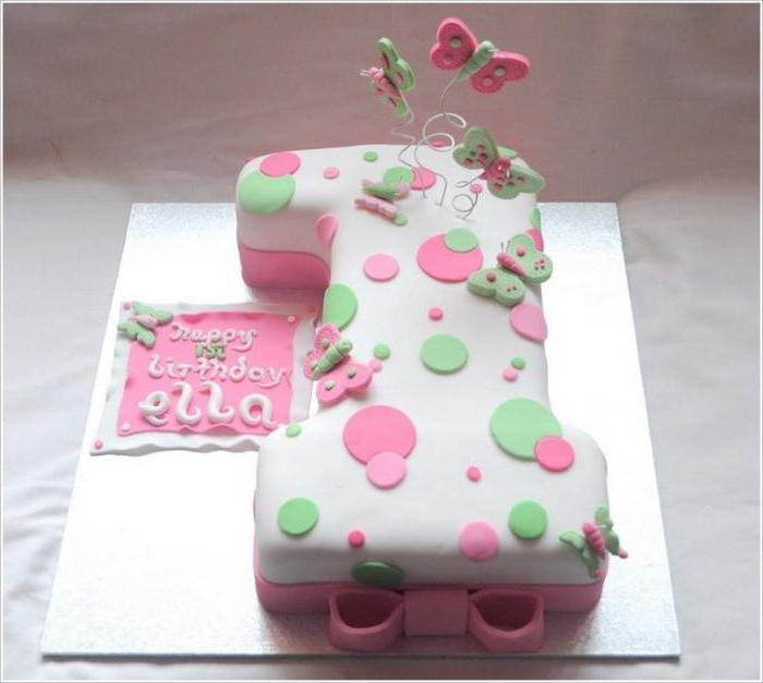 Торт в виде единички