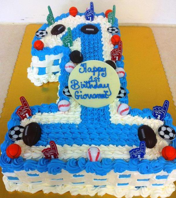 Торт годик единичка