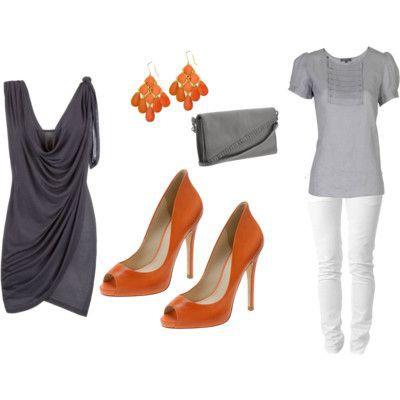 оранжевые туфли