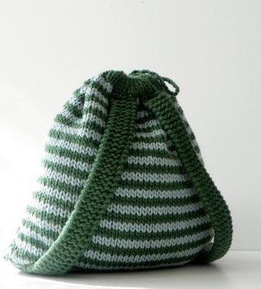 связать рюкзак крючком из трикотажной пряжи
