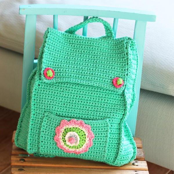 детский рюкзак связанный крючком