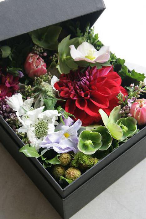 цветы в коробке своими руками