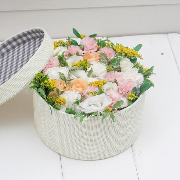 сделать шляпную коробку для цветов своими руками