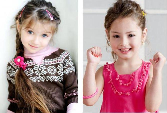 детские прически на средний волос