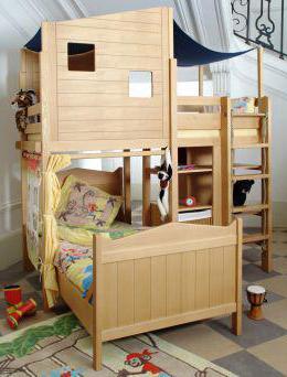 размеры двухъярусной детской кровати