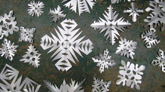 Fiocchi Di Neve Di Carta Modelli : Articoli di carta senza colla e forbici