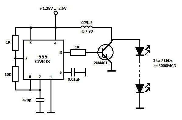 схемы включения мигающих светодиодов