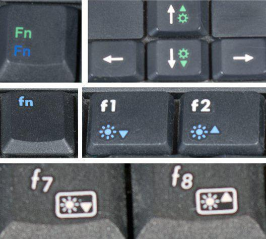 как убрать яркость на ноутбуке windows 7