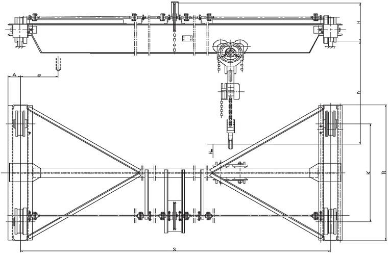Схема монтажа кран-балок
