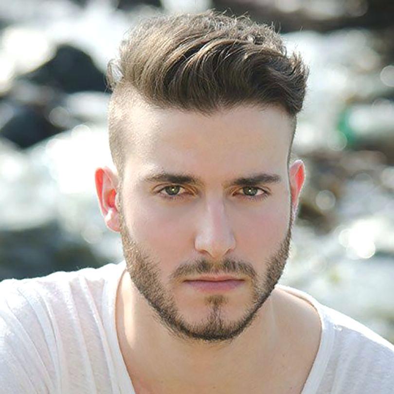 модельная мужская стрижка фото с выбритыми висками