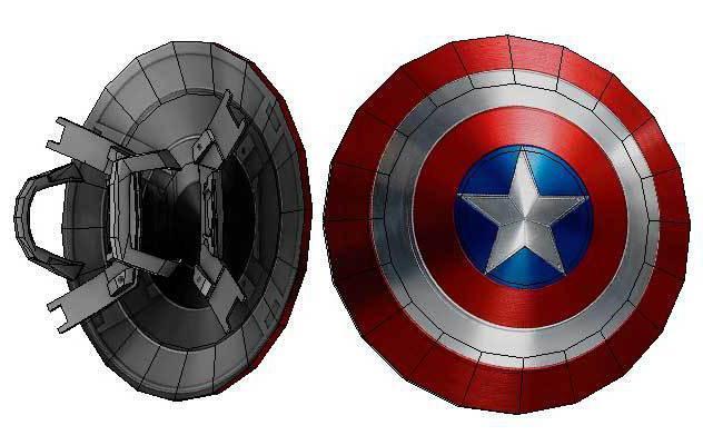 как сделать щит капитана америки их металла