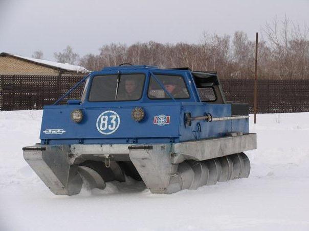 Шнекороторный снегоболотоход
