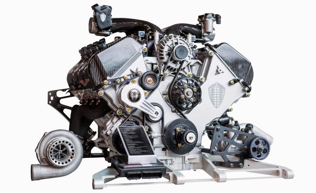 Двигатель Koenigsegg One: 1