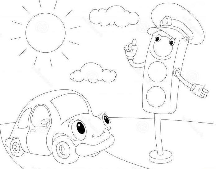как нарисовать светофор карандашом