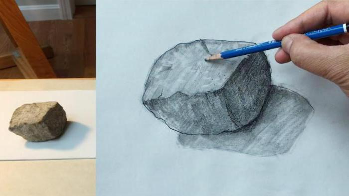 How to draw the stones with a pencil step by step instructions