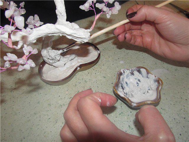 как сделать ствол для дерева из бисера своими руками