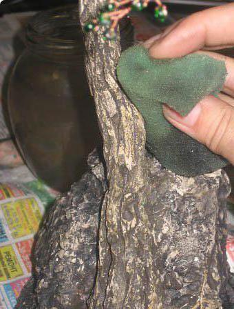 как сделать ствол для дерева из бисера мастер класс