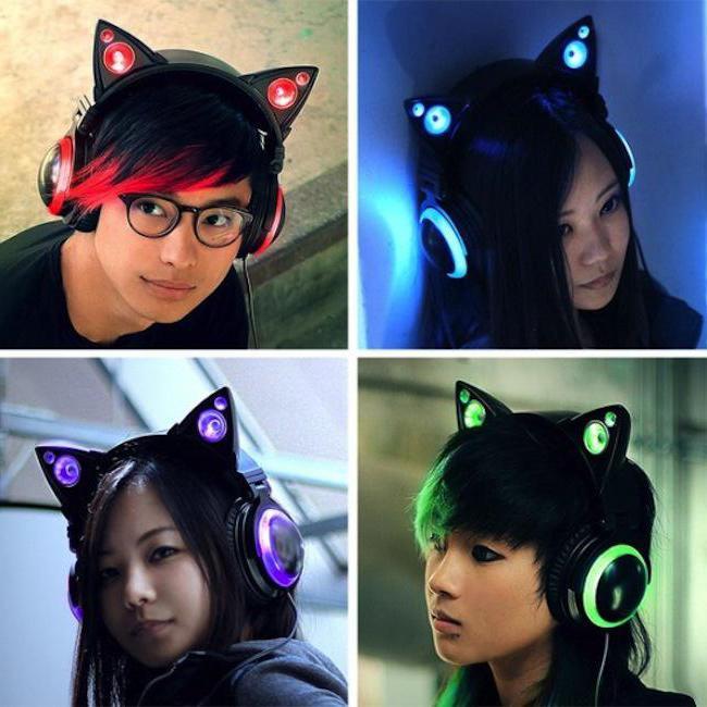 наушники с кошачьими ушками